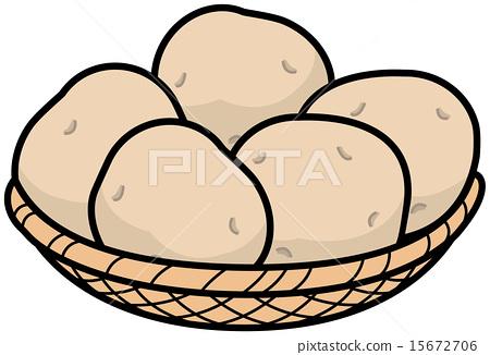 图库插图: 马铃薯 矢量 土豆