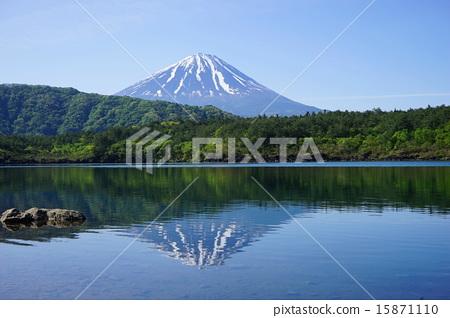日本风景 山梨 富士山 照片 富士山 小柴胡汤湖 翠绿 首页 照片 日本