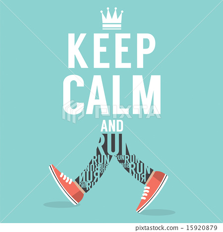 图库插图: keep calm and run