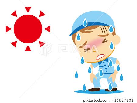 图库插图: 中暑 矢量 脱水