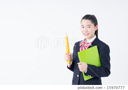 图库照片: 铅笔 学习 初中生