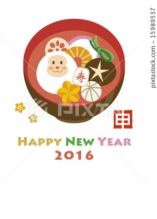图库插图: 索尼 日本年糕汤 猴子
