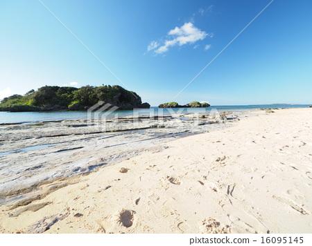 图库照片: 西表岛 星沙海滩 冲绳