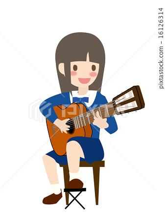 首页 插图 人物 女性 女孩 吉他弹奏者 吉他手 矢量  *pixta限定素材