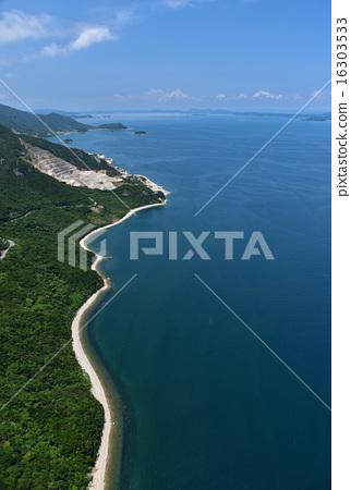 图库照片: 濑户内海 海岸线 岛