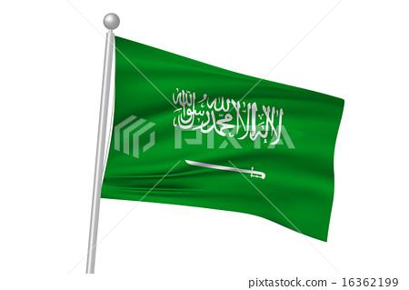 图库插图: 国旗 矢量 沙特阿拉伯