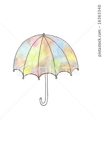 图库插图: 插图 伞 手绘
