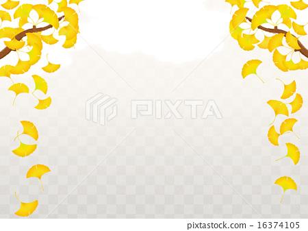 首页 插图 植物_花 树_树木 银杏 背景 银杏 打钩  *pixta限定素材仅