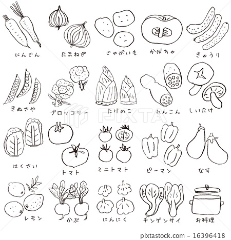 图库插图: 矢量 手写 蔬菜