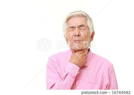 图库照片: 喉咙 嗓子 疼