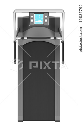 top view of treadmill isolated on white background 16887799
