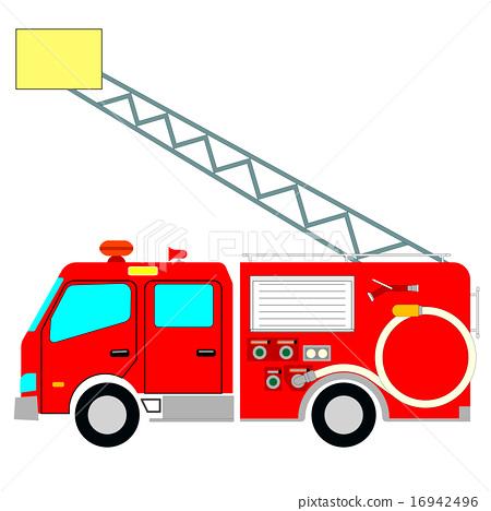插图素材: 消防车