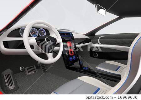 图库插图: 智能手机 方向盘 汽车导航