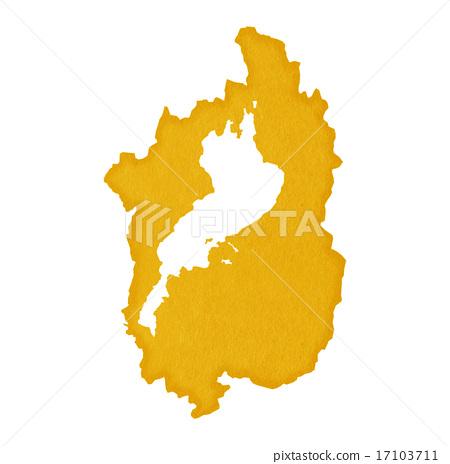 图库插图: 滋贺县地图