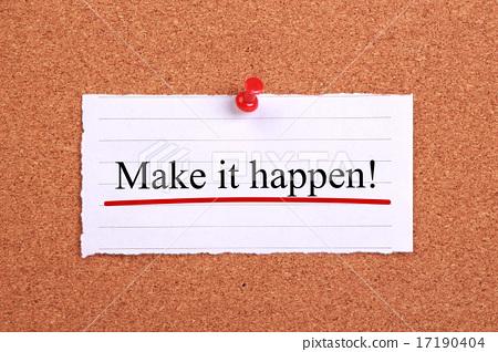 图库照片: make it happen