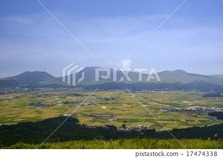 熊本 阿苏山 照片 阿苏山 稻田 阿苏五岳 首页 照片 日本风景 熊本
