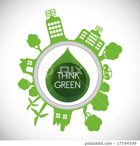 插图素材: think green design图片