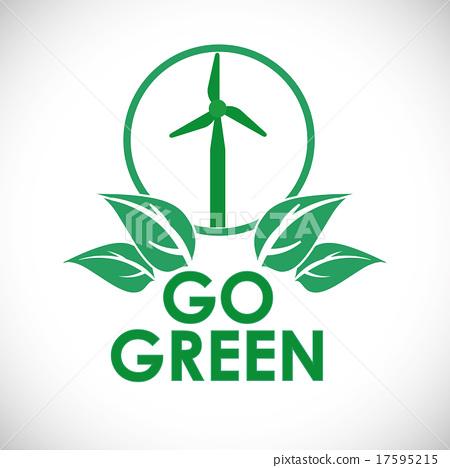 图库插图: go green design图片