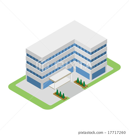 图库插图: 矢量 建筑 办公楼