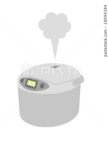 插图素材: 来自电饭煲的蒸汽