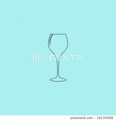 插图素材: elegant wine glass