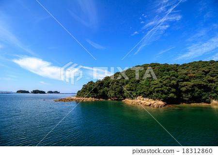 图库照片: 佐世保 九十九岛 海岸