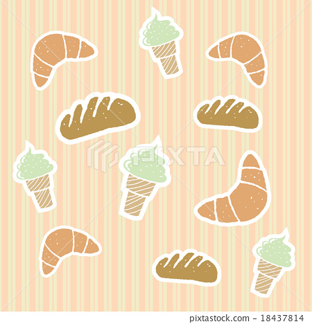 插图素材: illustrations of bakery pattern background.