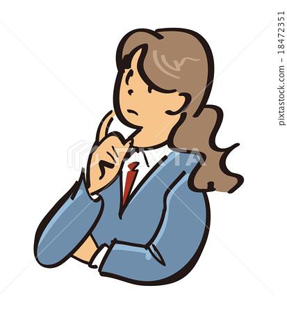 插图素材: 白领丽人 职业妇女 职场女强人