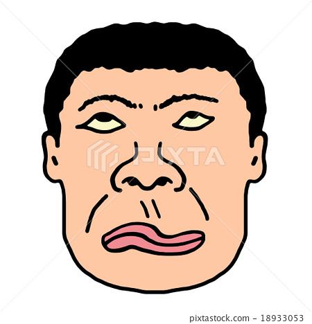 插图素材: 花哨的脸
