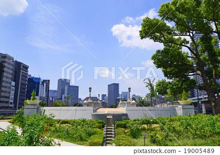 图库照片: 大阪中之岛公园的风景