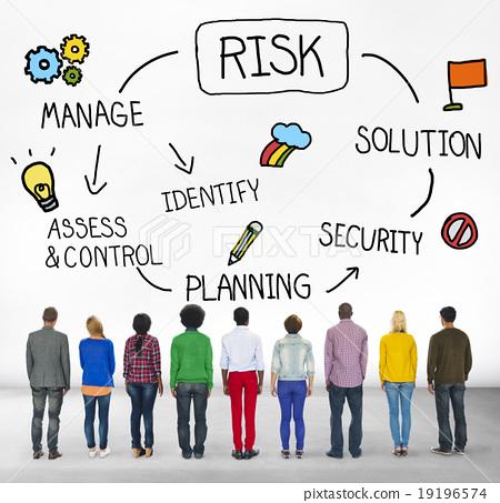图库照片: risk management access and control weakness concept