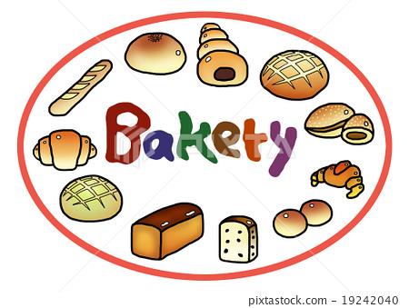 插图素材: 面包店