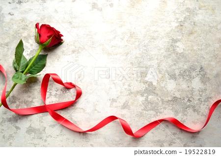 图库照片: 玫瑰 玫瑰花 彩带