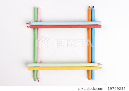 图库照片: 彩色铅笔 框架 边框