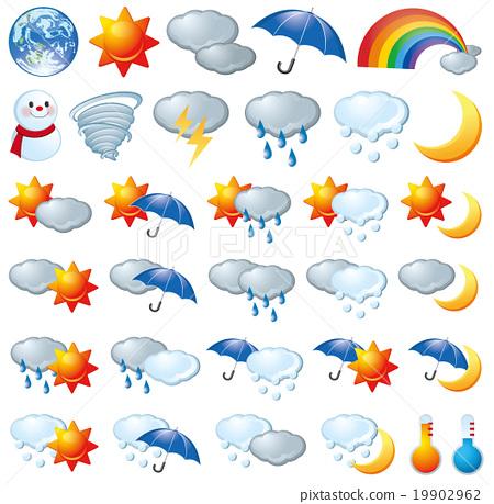 图库插图: 天气 图标 天气预报