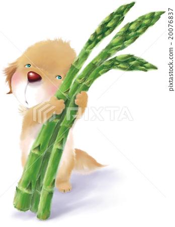 小狗盆栽的简笔画