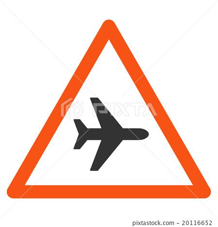 插图素材: airplane danger flat icon