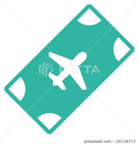 插图素材: boarding pass flat icon