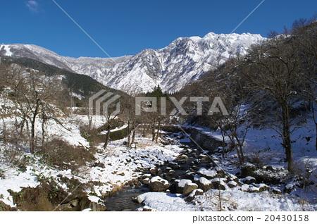 图库照片: 雪 下雪的 风景