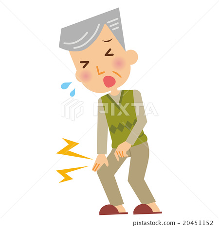 图库插图: 膝盖 疼痛 老人