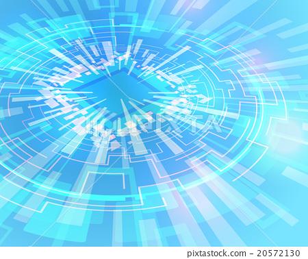 图库插图: 电子 电路 环形