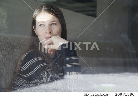 图库照片: 白人 外国人 女生