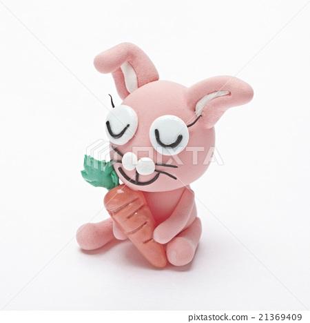 图库照片: 粘土 橡皮泥 兔子