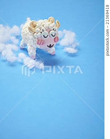 图库照片: 粘土 橡皮泥 绵羊