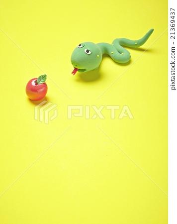 图库照片: 粘土 橡皮泥 苹果