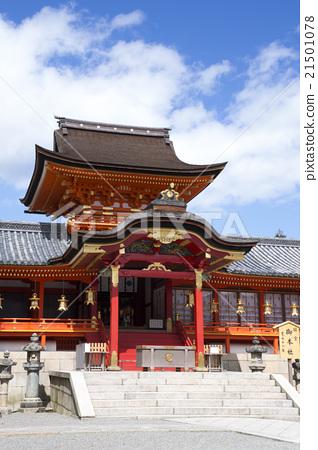 图库照片: 石清水八幡宫 主殿区 八幡神社