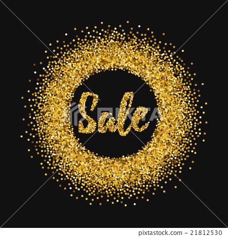 图库插图: gold glitter sale background.