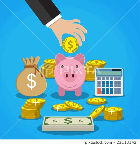 图库插图: money saving concept.
