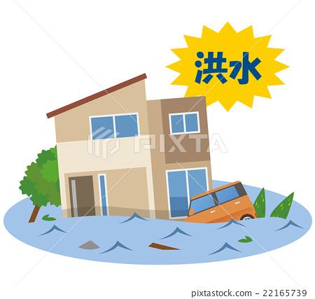 图库插图: 洪水 水渍 灾难