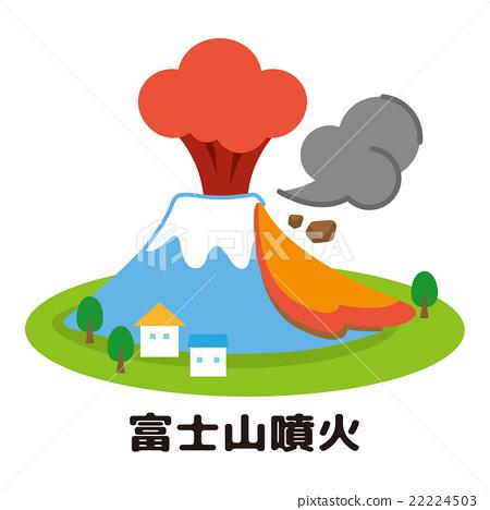 日本风景 山梨 富士山 插图 富士山 喷发 爆发 首页 插图 日本风景 山